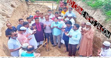 চৌদ্দগ্রাম পৌরসভার ১০.৩ কিলোমিটার মেগা ড্রেনের নির্মাণ কাজের উদ্বোধন